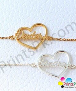 Name Bracelet in Heart Shape