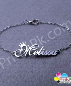 Name Necklace with crown design