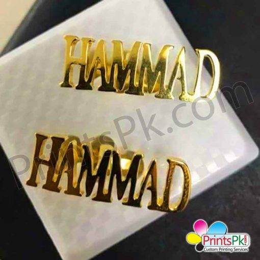 Gift for Hammad, Name Cufflinks,