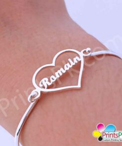 Heart Name Bangle