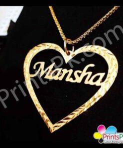 Mansha Name Pendant,