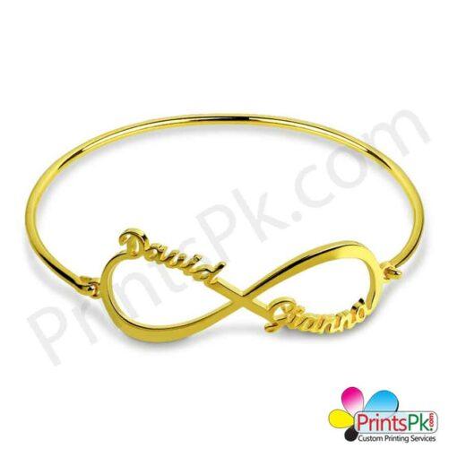 Infinity love name bangle