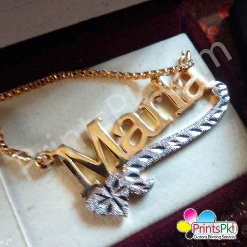 Name Necklace in lahore, Maria Name Chain,