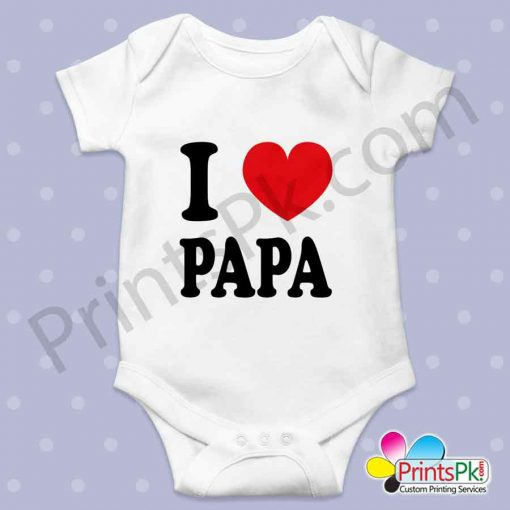 i love papa Customized printed romper