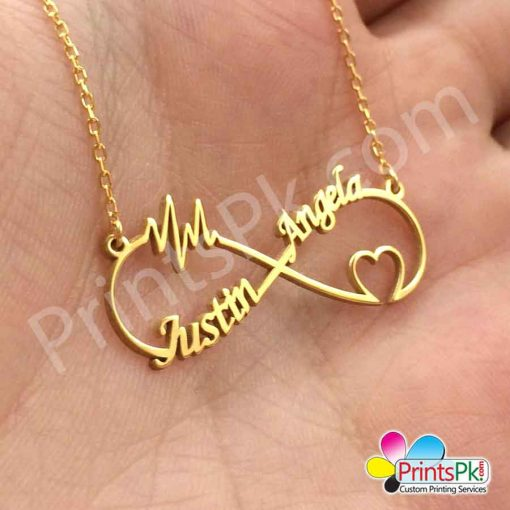 infinity love heart line Locket