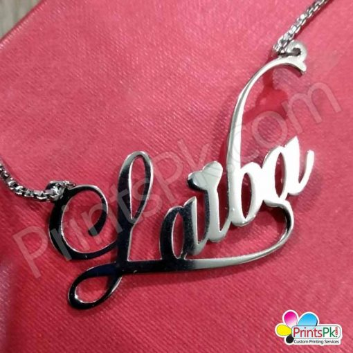 name necklace silver