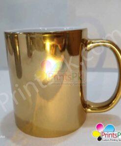 Customize Golden Mug Printing