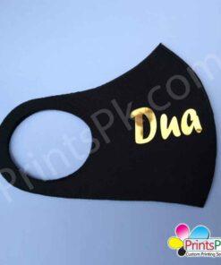 Golden & Silver Color Name Mask