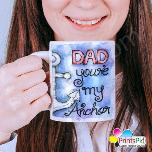 dad you are my anchor mug