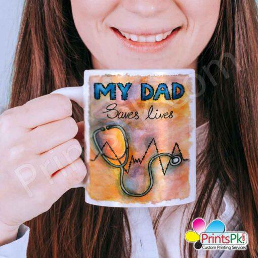 My Dad Saves Lives Mug